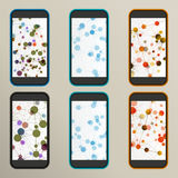 Set of abstract molecule compounds for screens Stock Images