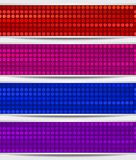 Set Of Abstract Mosaic Banners Stock Image