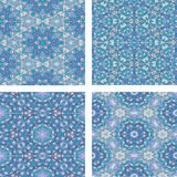 Set of Abstract mosaic colorful seamless wallpaper texture backg Stock Photography