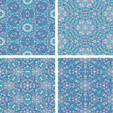 Set of Abstract mosaic colorful seamless wallpaper texture backg Royalty Free Stock Photo