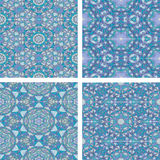 Set of Abstract mosaic colorful seamless wallpaper texture backg Royalty Free Stock Images