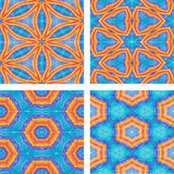 Set of Abstract mosaic colorful seamless wallpaper texture backg Stock Photo