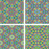 Set of Abstract mosaic colorful seamless wallpaper texture backg Royalty Free Stock Photography