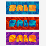 Set of abstract mosaic sale banners Royalty Free Stock Image
