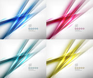 Set of abstract motion lines templates Royalty Free Stock Images