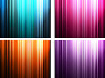 Set of Abstract multicolor strip background Stock Images
