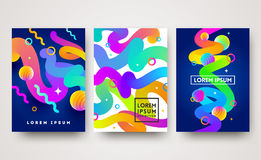 Set of abstract multicolored background. Bright design for greeting card, poster, cover or flyers Stock Photos
