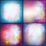 Set of Abstract multicolored backgrounds, Stock Photography