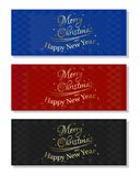Multicolored christmassy backgrounds set. Set of abstract  multicolored christmassy backgrounds. Merry Christmas and a Happy New Year. Vector illustration Royalty Free Stock Photo