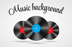 Set of Abstract music background vector Royalty Free Stock Photography