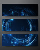 Set abstract  music banners Royalty Free Stock Photography
