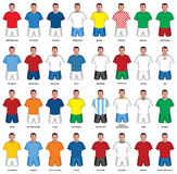 Set of abstract nationals football uniform Royalty Free Stock Photography