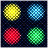 Set of abstract neon light black texture vector. Illustration Royalty Free Stock Images