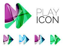 Set of abstract next play arrow icon, business Royalty Free Stock Photography