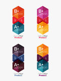 Set of abstract option navigation templates Royalty Free Stock Photography