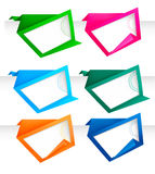 Set of abstract origami paper banners. Vector. Royalty Free Stock Images