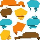 Set of abstract origami speech bubble vector Stock Photos