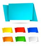 Set with abstract origami speech bubbles. Vector Royalty Free Stock Image