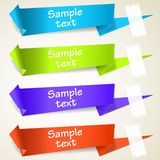 Set of abstract origami tag labels Stock Photo