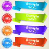 Set of abstract origami tag labels Royalty Free Stock Images