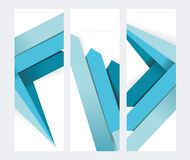 Set of abstract  paper banners. With blue arrows Stock Photography