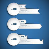 Set of 3 abstract paper banners Stock Photography