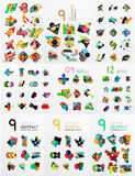 Set of abstract paper elements, infographics Royalty Free Stock Image
