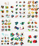 Set of abstract paper elements, infographics Royalty Free Stock Photography