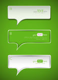 Set of 3 abstract paper speech bubbles Royalty Free Stock Image