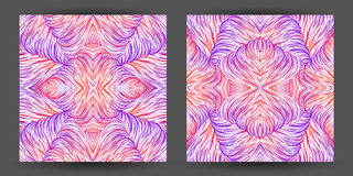 Set abstract pattern seamless. line art tracery. wave hair natur Royalty Free Stock Photos