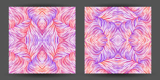 Set abstract pattern seamless. line art tracery. wave hair natur Royalty Free Stock Photo