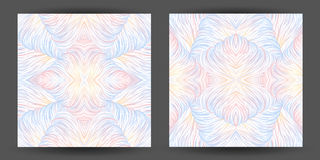 Set abstract pattern seamless. line art tracery. wave hair natur Stock Images