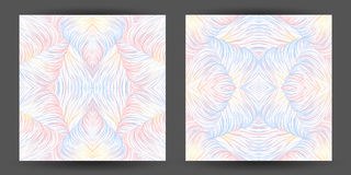 Set abstract pattern seamless. line art tracery. wave hair natur Royalty Free Stock Image