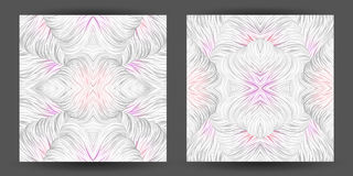 Set abstract pattern seamless. line art tracery. wave hair natur Stock Photography