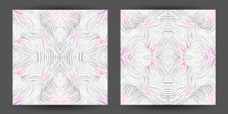 Set abstract pattern seamless. line art tracery. wave hair natur Stock Image