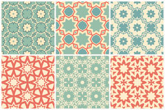 Set of abstract pattern swatches Stock Image