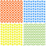 Set of abstract patterns. Stock Image