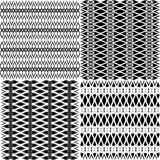 Set of abstract patterns. Stock Images