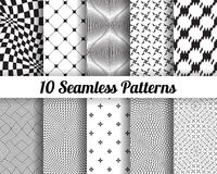 Set of 10 Abstract patterns Stock Images
