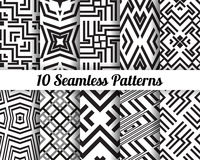 Set of 10 Abstract patterns Royalty Free Stock Photography