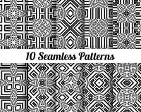 Set of 10 Abstract patterns Royalty Free Stock Images