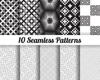 Set of 10 Abstract patterns Stock Photography