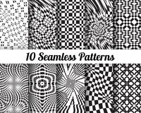 Set of 10 Abstract patterns Stock Photo