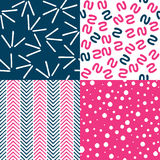 Set of Abstract Patterns Stock Images