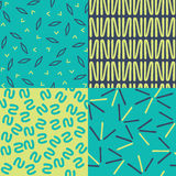 Set of Abstract Patterns Royalty Free Stock Photo