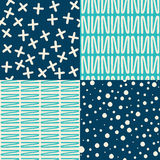Set of Abstract Patterns Royalty Free Stock Image