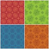 Set abstract patterns, seamless Royalty Free Stock Image