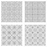 Set of abstract patterns seamless Royalty Free Stock Images