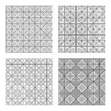 Set of abstract patterns seamless Stock Images