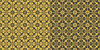 Set of abstract patterns seamless Stock Photo
